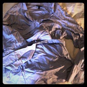 Blue Wrap Dress Shirt